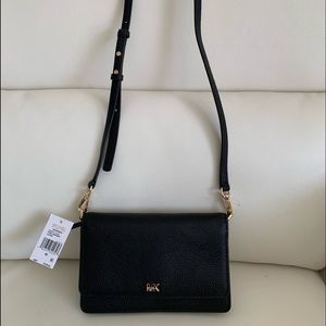 Michael Kors Black Phone Crossbody Leather Bag
